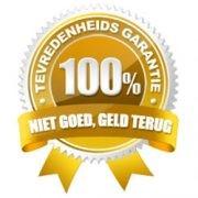 100 procent niet goed geld terug garantie! In het goud