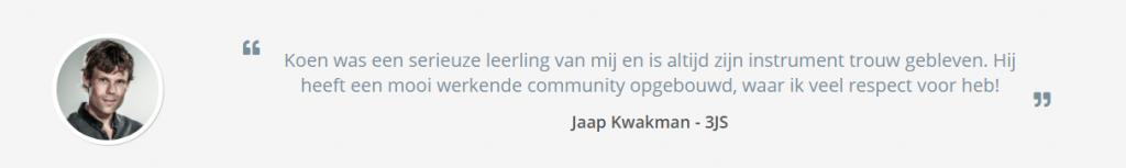 Jaap Kwakman met een citaat.