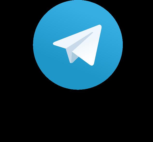 Telegram logo met kleur.