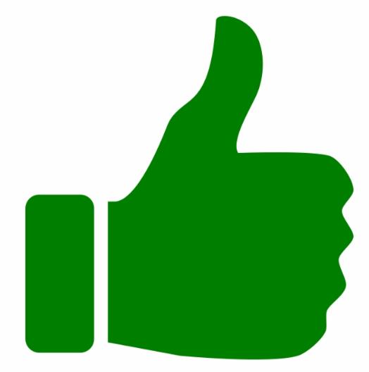 Groene duim omhoog